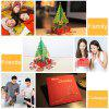 3D Paper Hollow Out Christmas Cards - RED