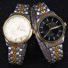 WeiQin W00120 Male Calendar Steel Quartz Watch with Luminous Pointers - BLACK