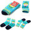 Creative Snowman Style Christmas Socks - BLUE AND GREEN