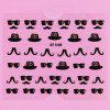 Stylish Ladies Women 3D Art Stickers Nail Stick Manicure Water Decal - XF448
