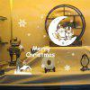 Christmas Santa Claus and Moon Style Wall Stickers - WHITE