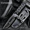 HX OUTDOORS D-134 Tactical Fixed Blade Knife - BLACK