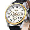 GUANQIN Men Calendar Quzrtz Watch - BLACK GOLDEN WHITE