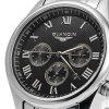 GUANQIN Men Calendar Quzrtz Watch - ROMAN SCALE BLACK