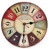 Wooden Decorative Round Wall Clock - COLORMIX