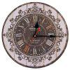Silent Round Decorative Wall Clock - COLORMIX