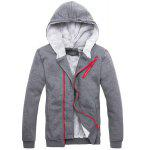 Buy Hooded Zipper Design Long Sleeve Men's Sherpa Hoodie Suit(Hoodie+Pants) M DEEP GRAY