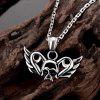 N008 316L Stainless Steel Vintage Pendant Necklace - SILVER GRAY