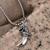 N044 316L Stainless Steel Vintage Pendant Necklace - SILVER GRAY