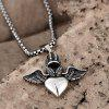 N046 Titanium Fashion Chain 316L Stainless Steel Vintage Pendant Necklace - SILVER GRAY