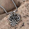 N045 Titanium Fashion Chain 316L Stainless Steel Vintage Pendant Necklace - SILVER GRAY