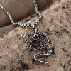 N048 Titanium Fashion Chain 316L Stainless Steel Vintage Pendant Necklace - SILVER GRAY