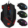ZELOTES C-12 Wired USB Optical Game Mouse - BLACK