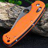 Ganzo G729-OR Axis Lock Folding Knife Pocket Clip - ORANGE