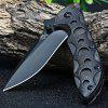 Sanrenmu 7034 LUI-PK Liner Lock Folding Knife BRIGHT BLACK