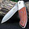 Sanrenmu 7028 LUE-XL Liner Lock Folding Knife BROWN