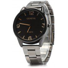 Geneva Stainless Steel Strap Men Quartz Watch