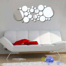 0%OFF 3D Removeable Multi-Piece Circle Mirror Sticker For Walls