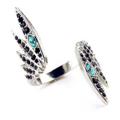 Stunning Rhinestoned Faux Crystal Wing Shape Ring For Women