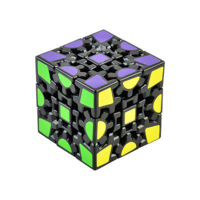3D Gear Magic Cube 3 x 3 x 3 Colorful Cool Toy - Black Base