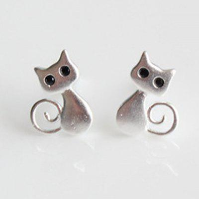 Kitten Shape Alloy Earrings