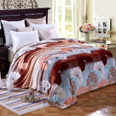 Cute Flower Pattern Household Flannel Blanket