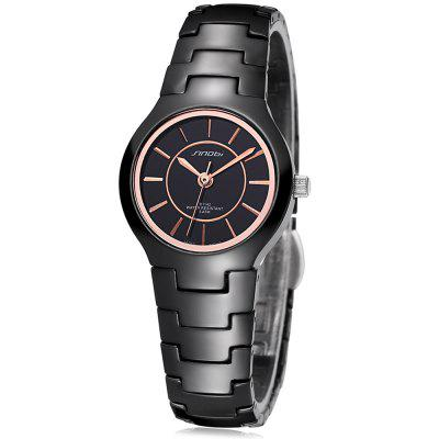 SINOBI 2687 Ultra-thin Ceramic Women Quartz Watch