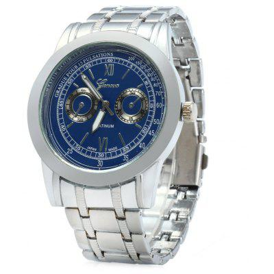 Geneva Z415 Stainless Steel Band Men Quartz Watch