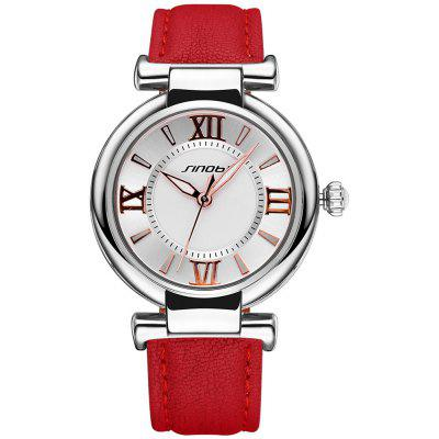 Buy RED SINOBI 2672 Women Japan Quartz Watch PU Leather Strap for $10.66 in GearBest store