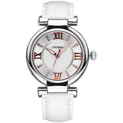 Buy WHITE SINOBI 2672 Women Japan Quartz Watch PU Leather Strap for $10.66 in GearBest store