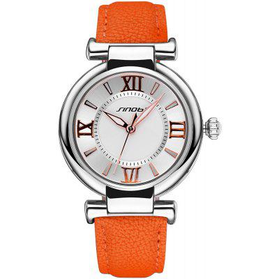 Buy ORANGE SINOBI 2672 Women Japan Quartz Watch PU Leather Strap for $10.66 in GearBest store