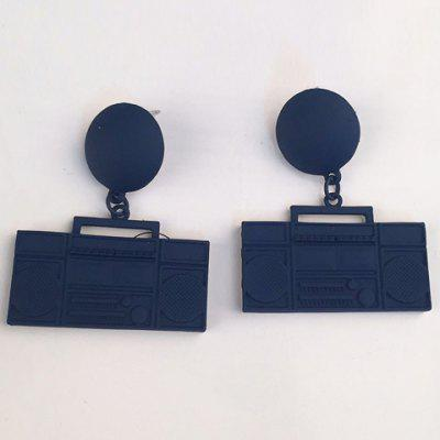 Pair of Faddish Radio Shape Earrings For Women