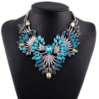 Statement Faux Crystal Hollow Out Necklace