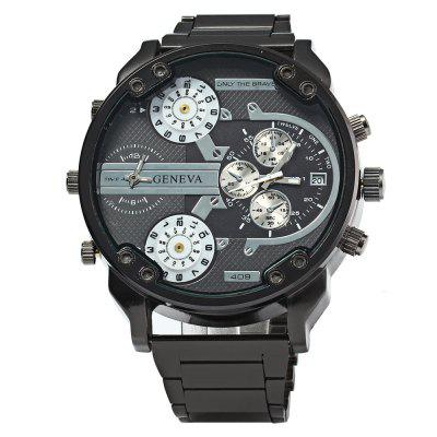 Geneva 409 Date Function Men Four Movt Quartz Watch