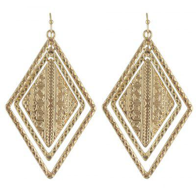 Pair of Vintage Rhombus Drop Earrings