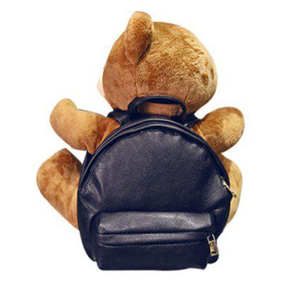 Cute PU Leather and Bear Cub Design Women's Satchel