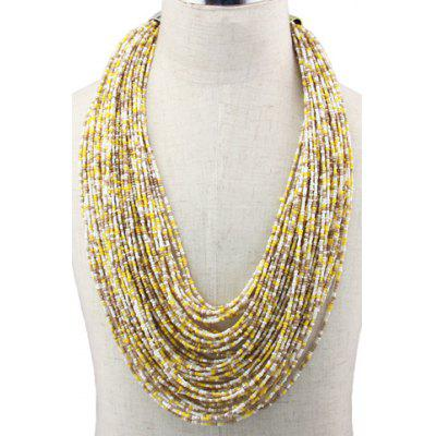Bohemian Style Multilayered Beads Necklace For Women