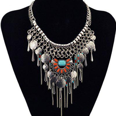 Bohemian Style Geometric Hollow Out Necklace