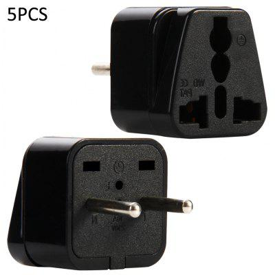 WD-9A 5PCS EU Plug to Universal Socket Adapter