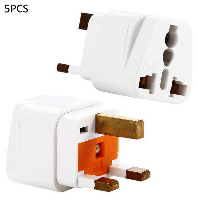 WD-7S 5PCS UK Plug to Universal Socket Adapter