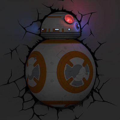 BB-8 Shape 3D Wall Lamp