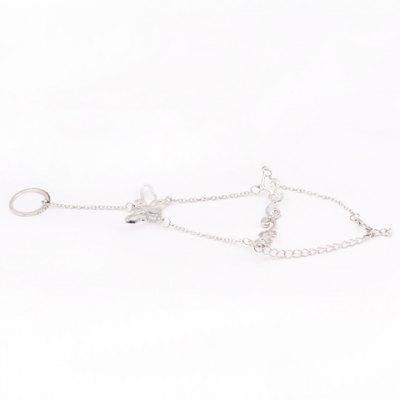 Graceful Rhinestone Butterfly Hollow Out Bracelet For Women