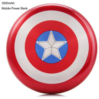 Captain America Shield 3500mAh Mobile Power Bank