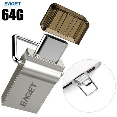 EAGET 10 um 64G USB 3.0 de tipo C Flash Drive