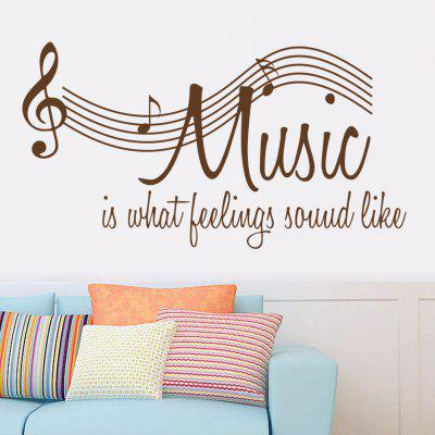 English Musical Notation Wall Decor Stickers