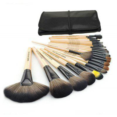 24Pcs Goat Hair Makeup Brushes Tool
