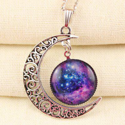 Trendy Moon Shape Pendant Necklace For Women