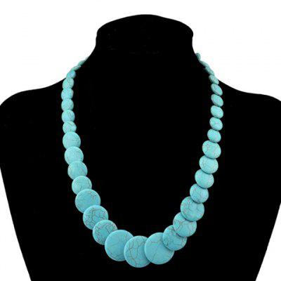 Retro Turquoise Round Shape Necklace