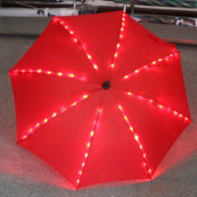 Hot Sale LED Light Embeded Flashlight Long-Handle Umbrella