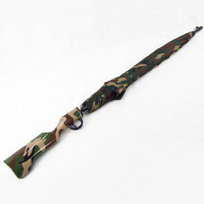 Hot Sale Camouflage Rifle Shape Handle Waterproof Umbrella